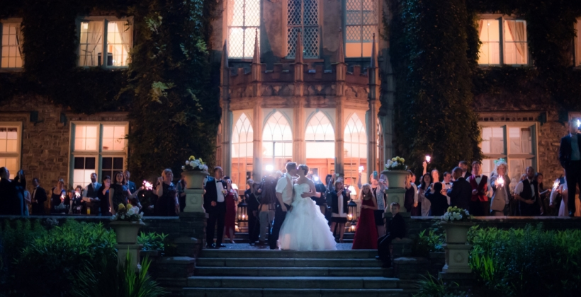 luttrellstown castle wedding photos by the fennells-fireworks