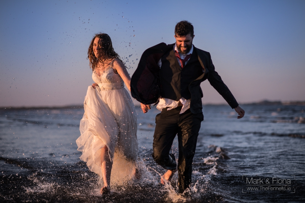 Trash The Dress in Dublin Bay wedding photographers