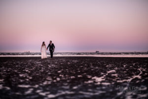 Trash The Dress in Dublin Bay engagement shoot