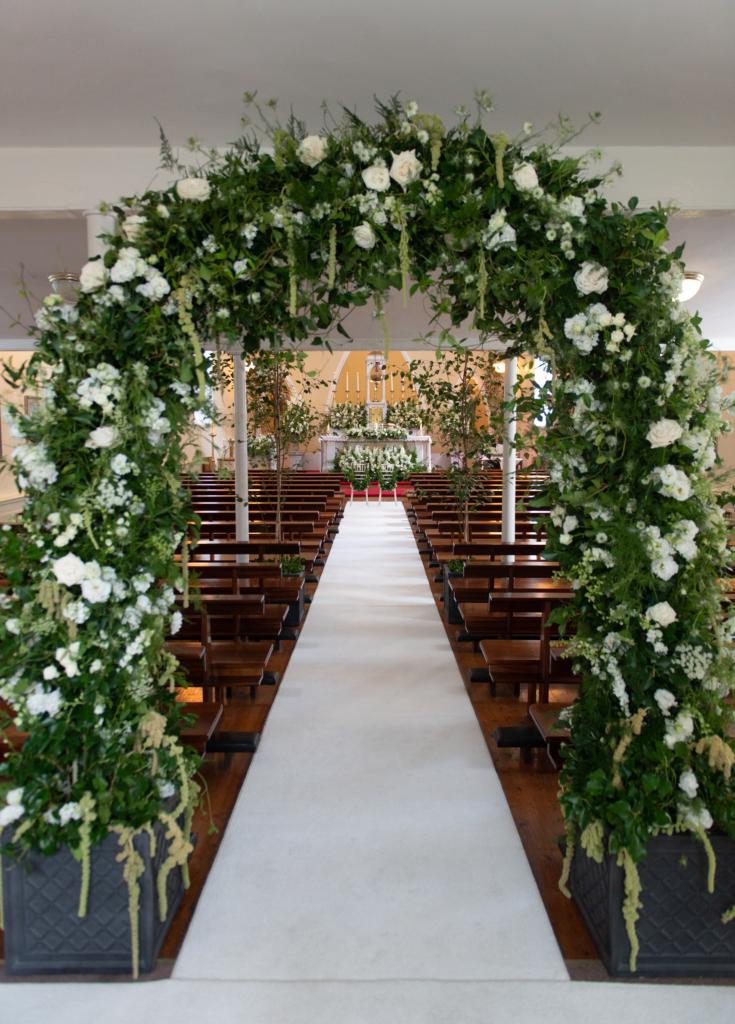 joeanna caffrey flowers arch
