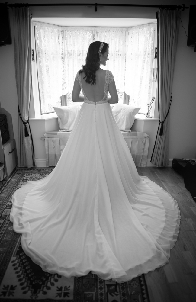 radisson blu wedding wedding dress rear photo by wedding photographers the fennells