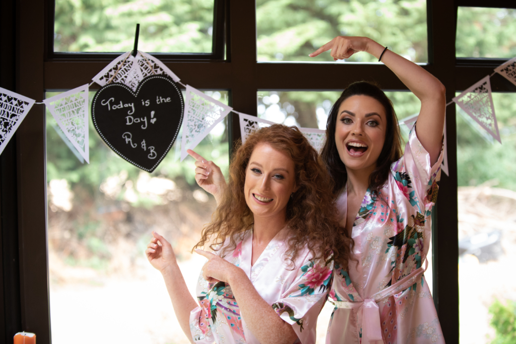 bridesmaids by wedding photographers the fennells radisson blu wedding