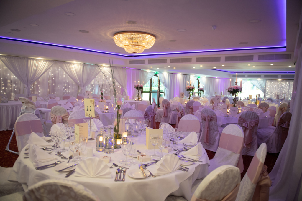 radisson blu wedding reception room photo by wedding photographers the fennells