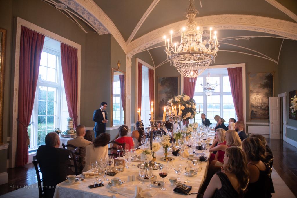 James Stewart giving his wedding speech at his wedding