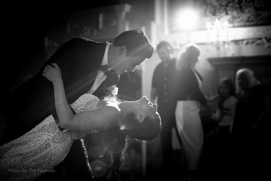 James Stewart and Sarah Roberts dancing at their Luttrellstown wedding