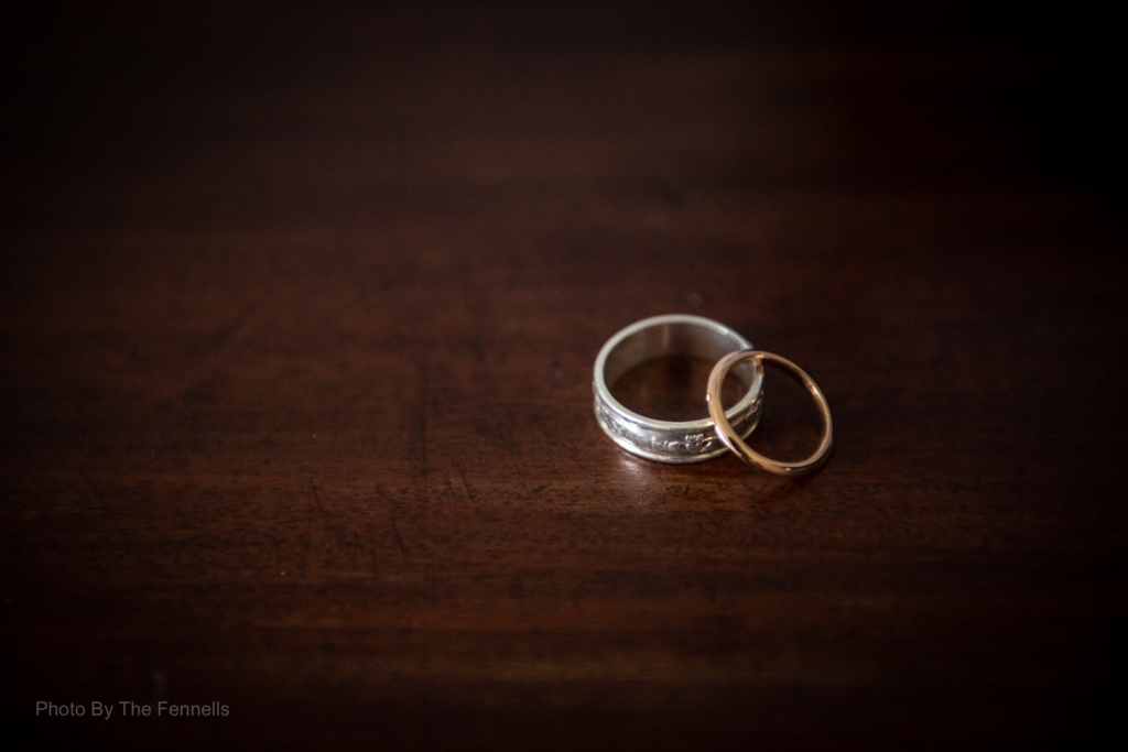 wedding rings photo by wedding photographers The Fennells