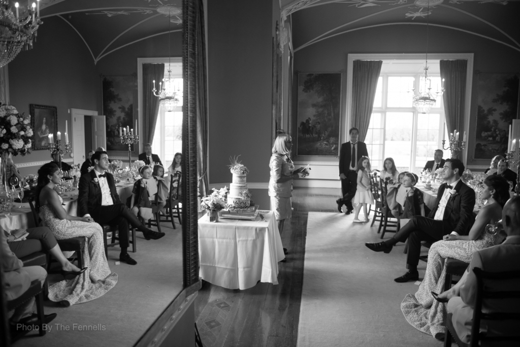 Mother of the Bride giving her wedding speech at the home and away wedding