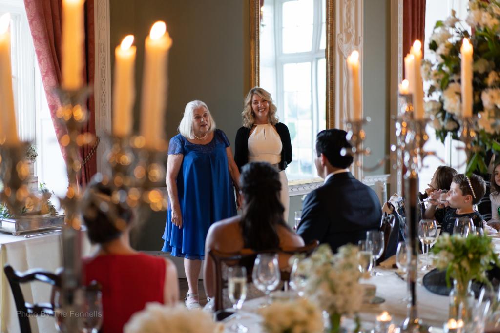 James Stewarts mother giving her wedding speech