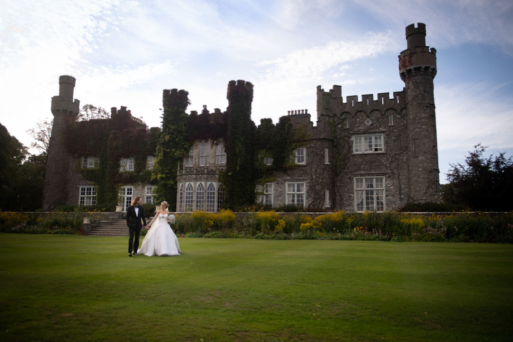Luttrellstown Castle wedding in ireland with bride and groom