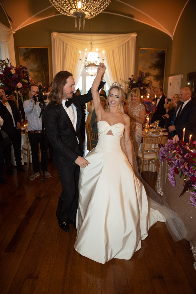 Bride and Groom dancing at their Luttrellstown Castle wedding