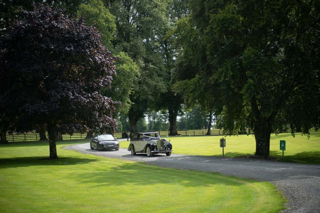 Wedding Car arriving at Tankardstown House