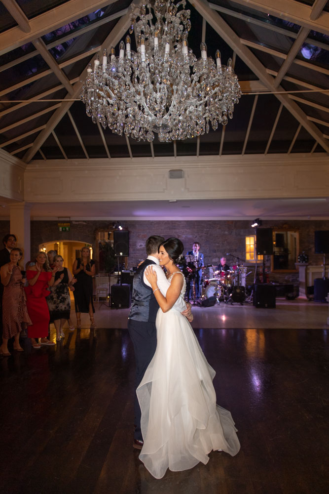 Bride and grooms first dance at the Tankardstown House wedding