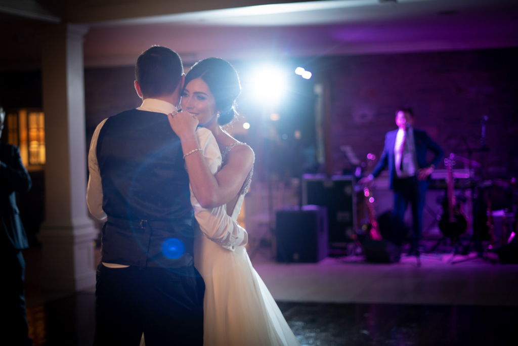Bride and Grooms first dance at their Tankardstown House wedding