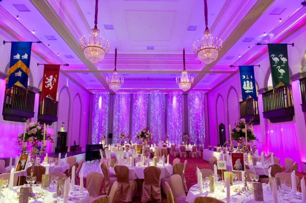 One of the top wedding venues in Ireland, Dromoland Castles wedding reception room