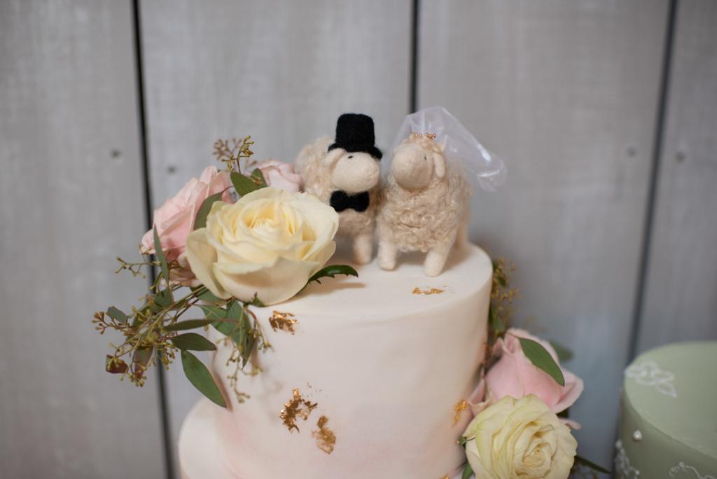 Sheep wedding cake topper at Ballymagarvey Village
