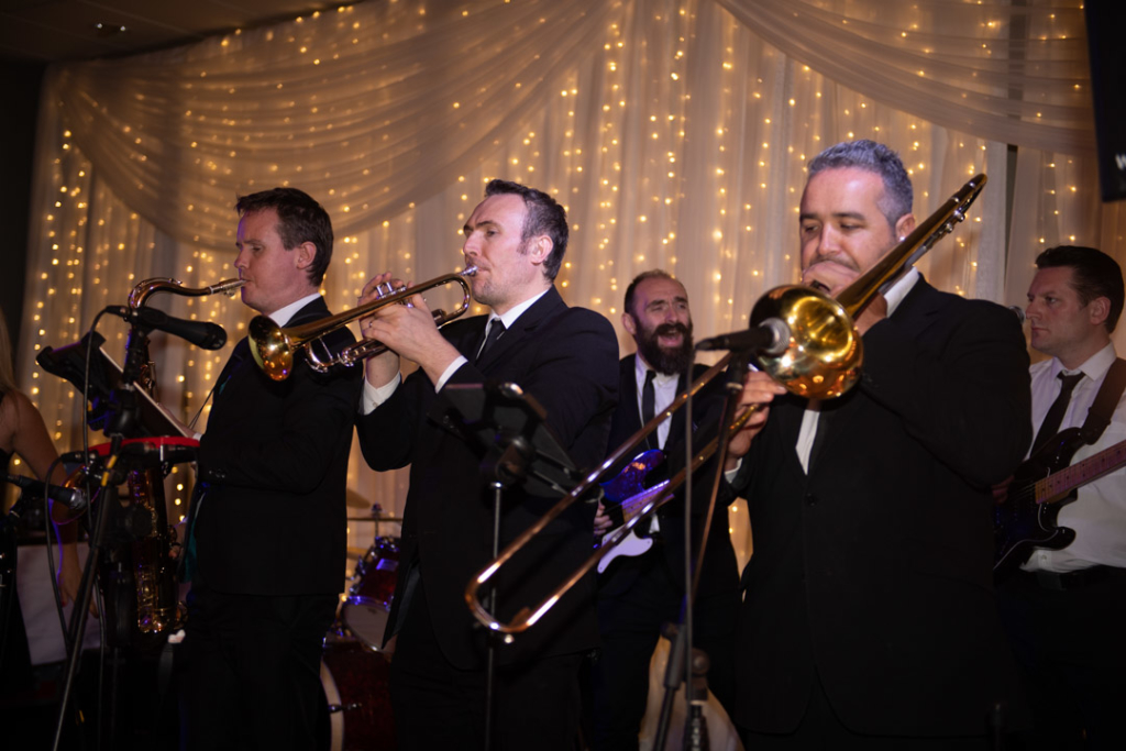 Brass musicians at the K Club wedding