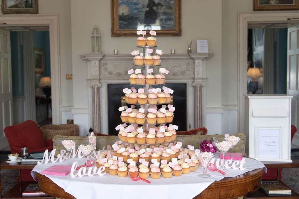 A tower of cup cakes for wedding in the K Club