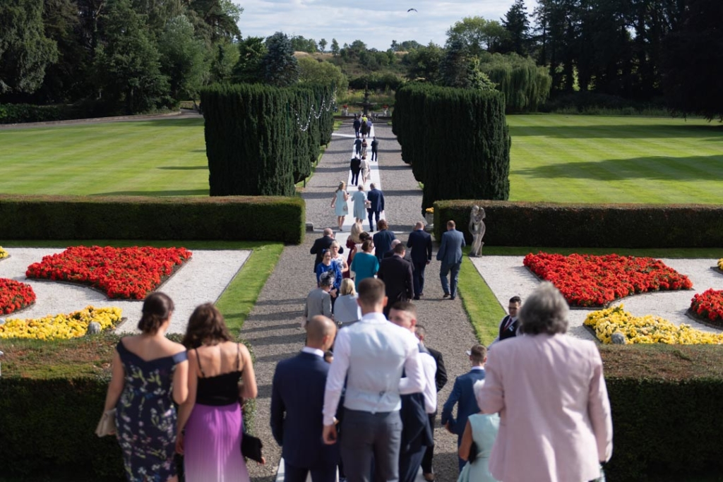 Guests walking to the dinner reception room at the K Club