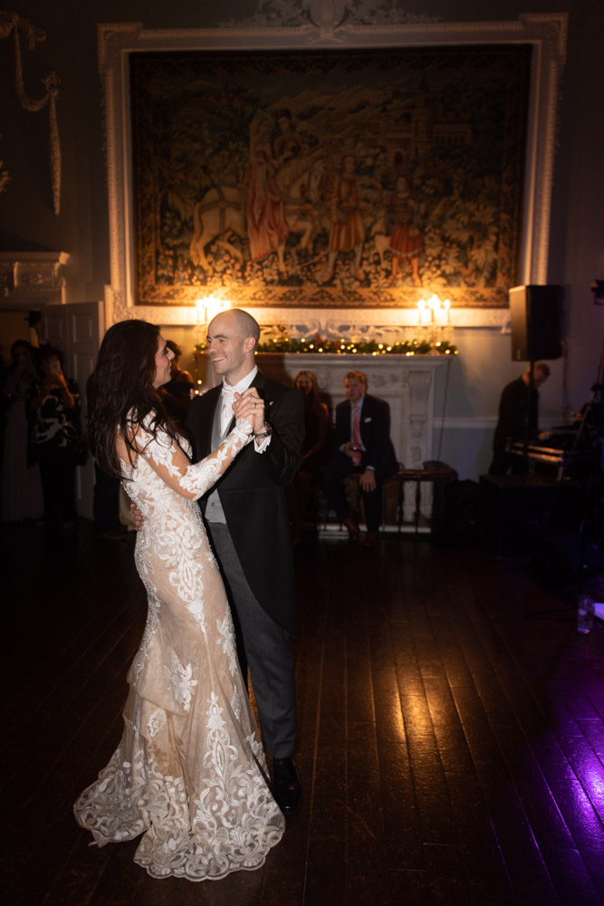 Bride and grooms first dance at their Luttrellstown Castle wedding