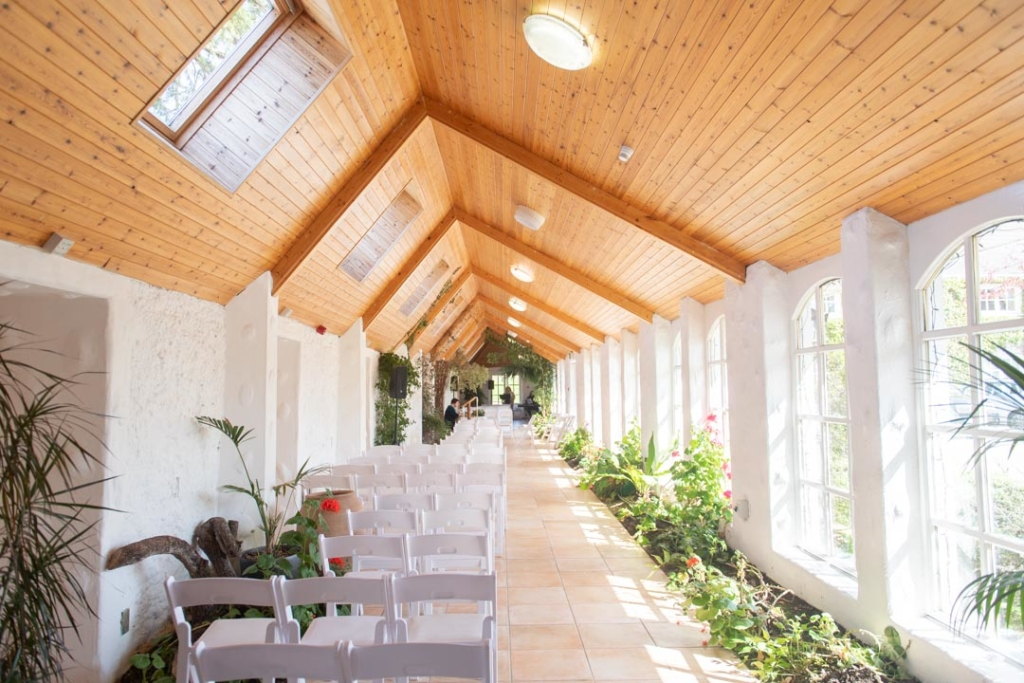 The wedding ceremony room in Rathsallagh House
