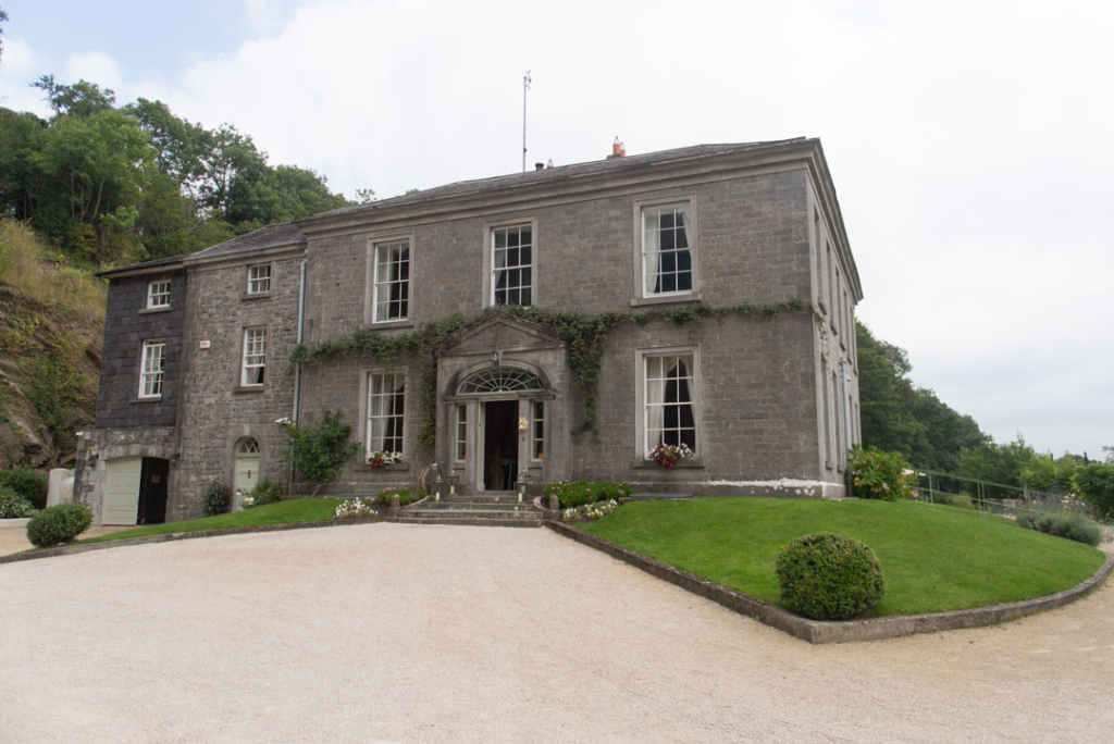 The outside of the main house at the Mill House Slane wedding venue