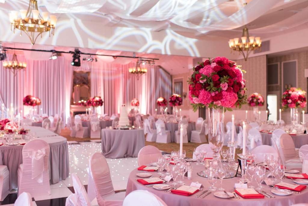 The reception room at the K Club one of the top wedding venues in Ireland