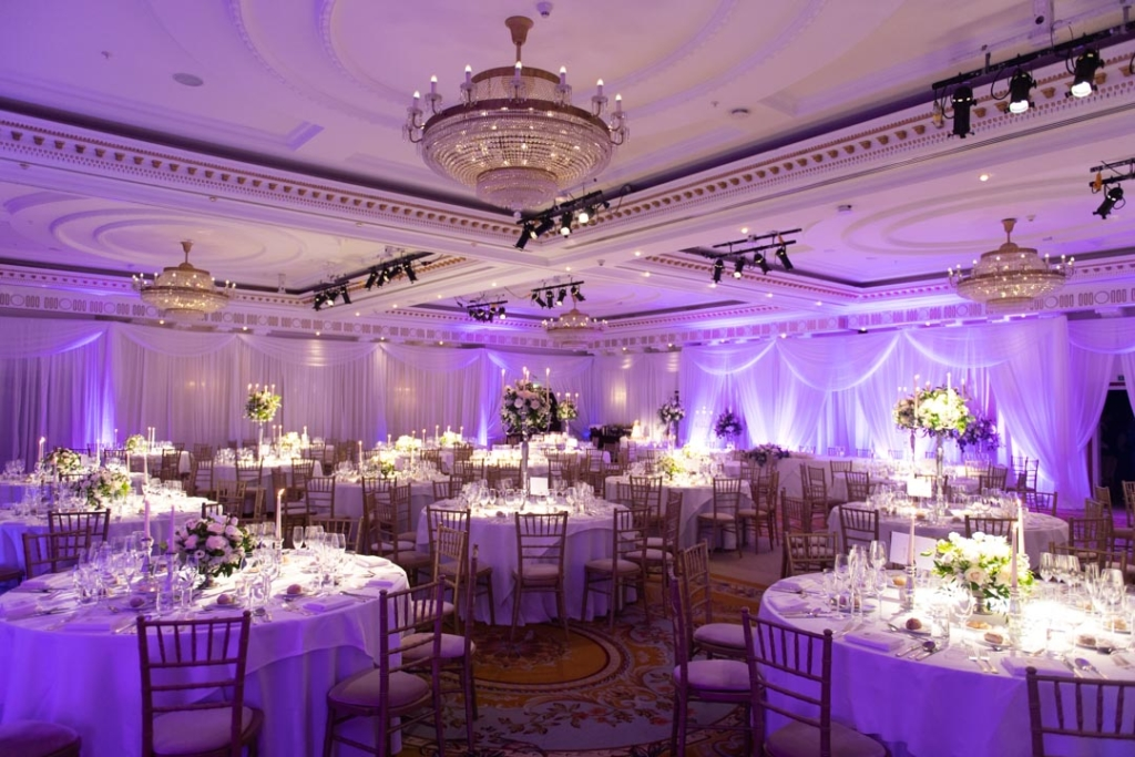 The reception room at one of the top wedding venues in Ireland, Powerscourt Hotel in Wicklow