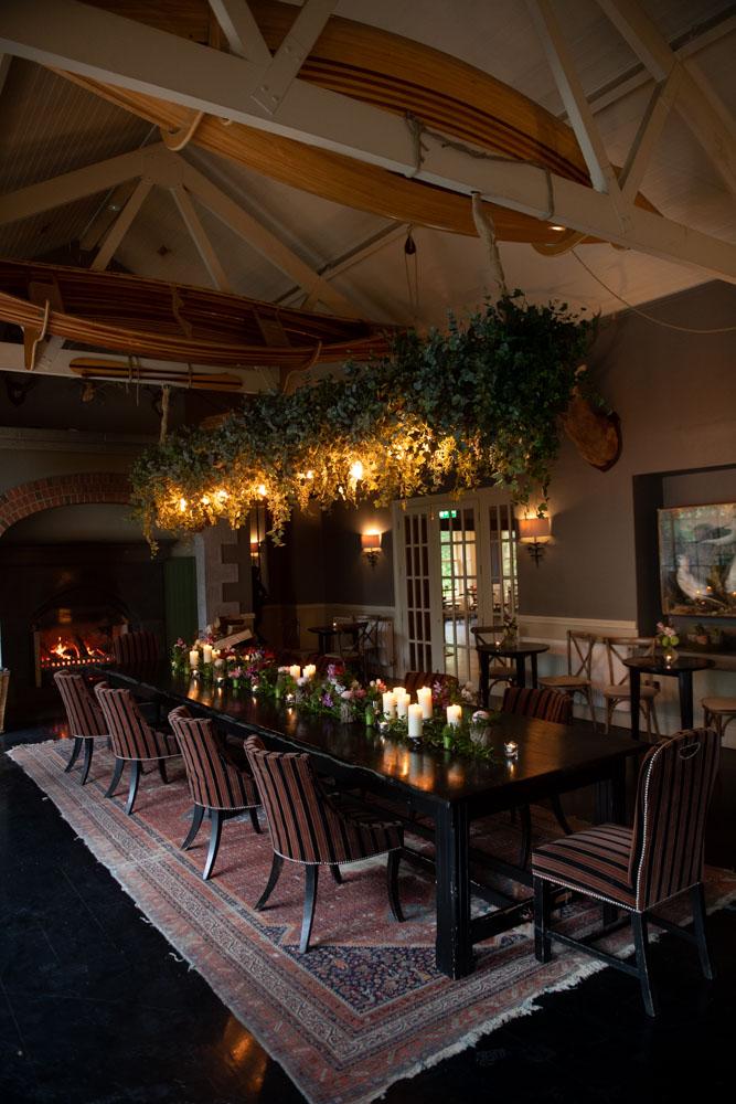 The reception area inside the Virginia Park House wedding venue in Ireland
