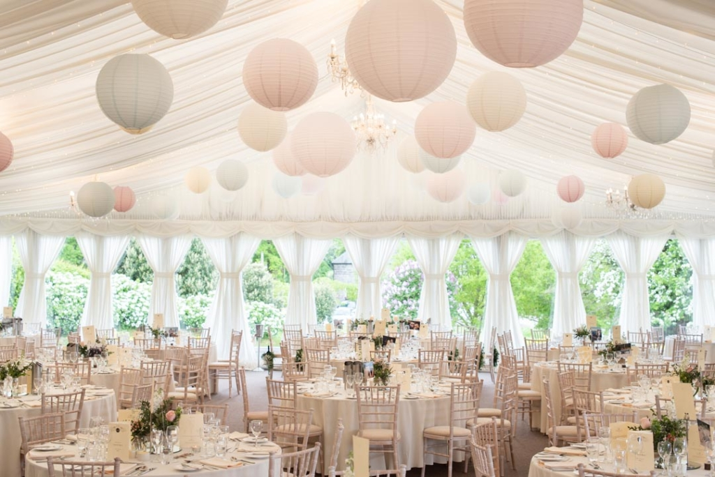 The marquee at the Clonabreany House, one of the top wedding venues in Ireland