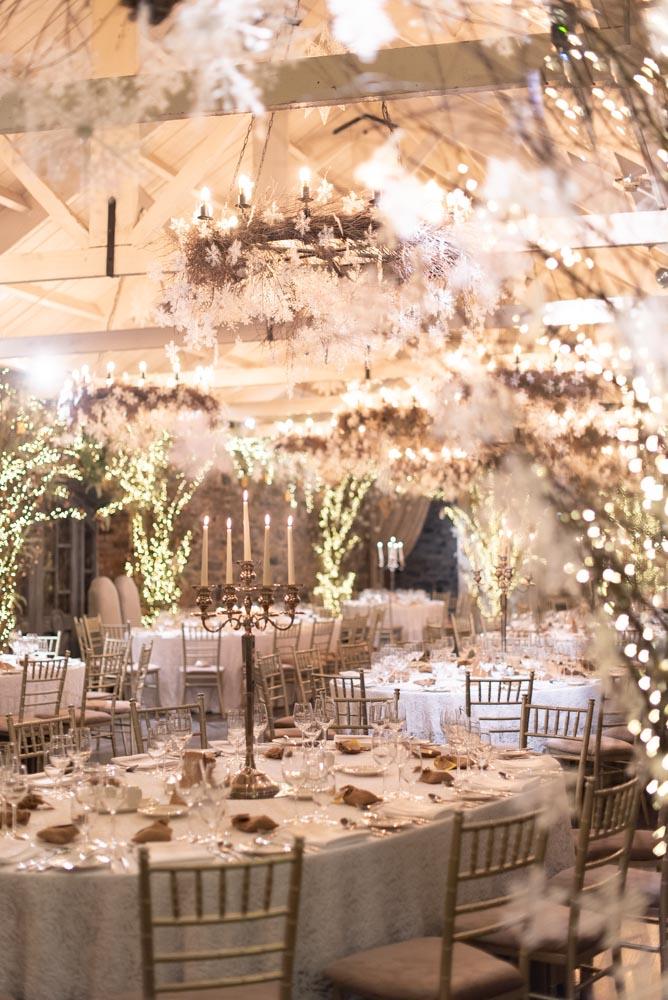 The wedding reception room at the Ballymagarvey village wedding venues in Ireland