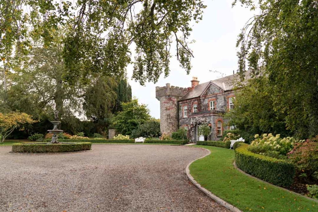 The main house at the Ballymagarvey village wedding venue in Ireland