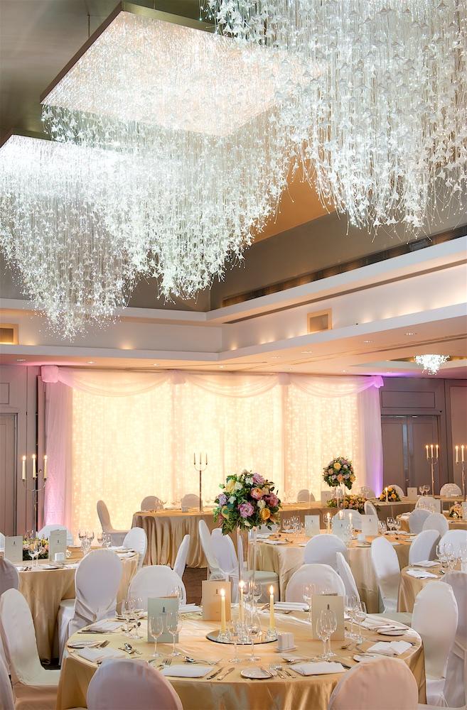 The wedding reception room at Carton House in Ireland