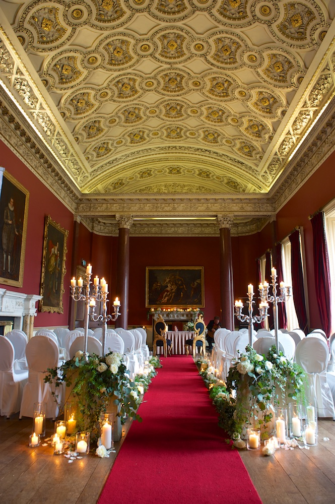 The wedding ceremony room at Carton House in Ireland