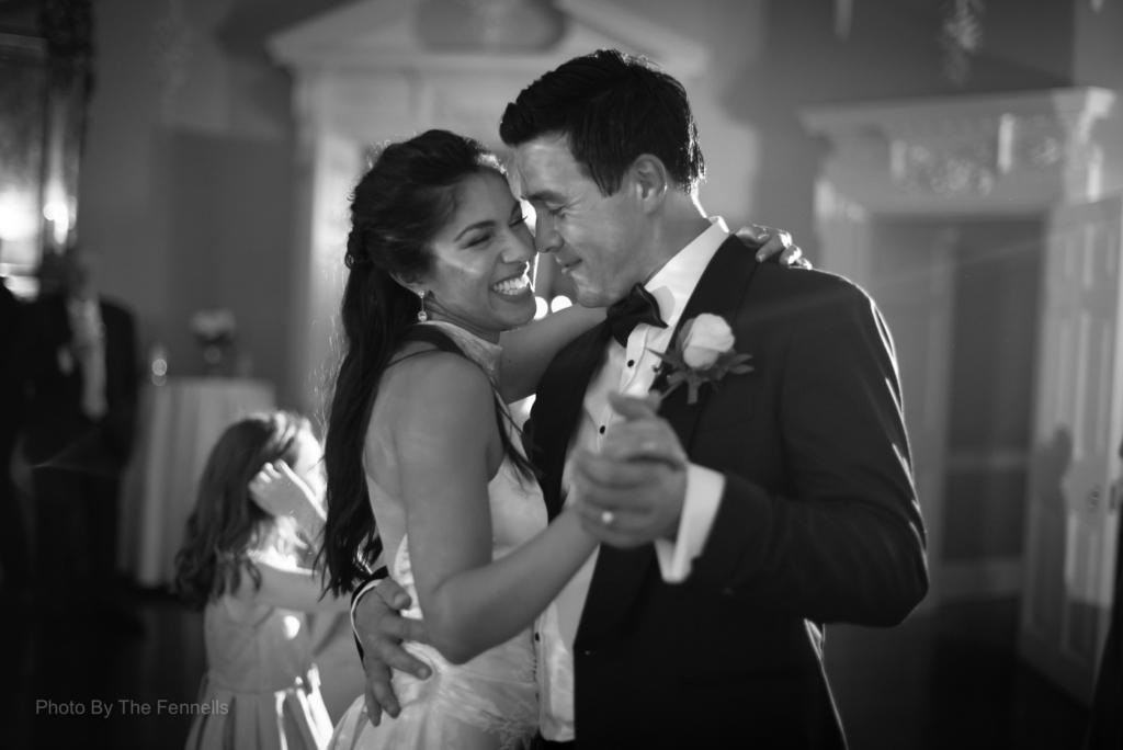 Sarah Roberts and James Stewert dancing together