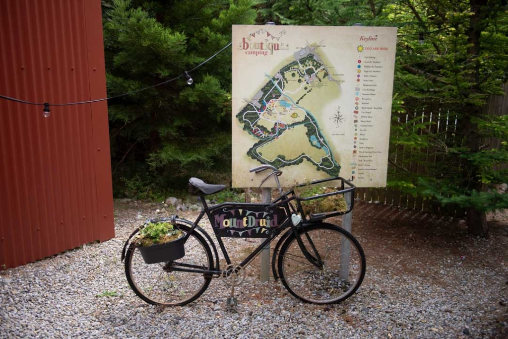 Mount Druid bike and map of venue