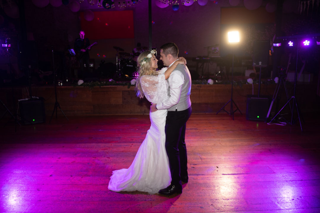 Bride and Groom dancing their first dance at their Mount Druid Wedding