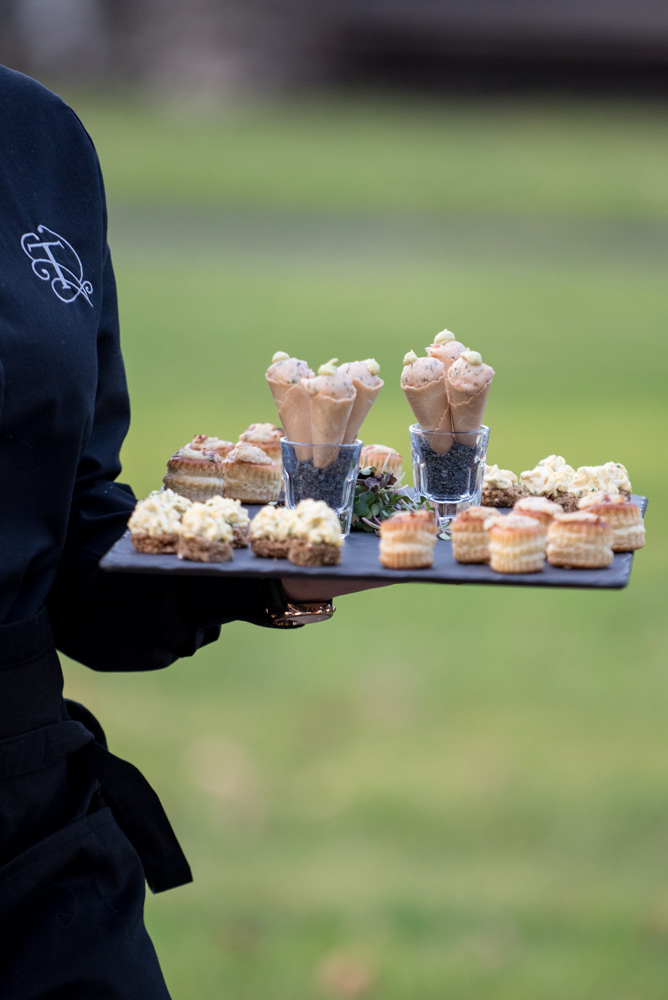 Wedding food canapés at Tankardstown House