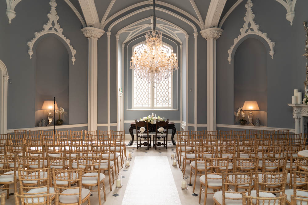 The Ceremony Room at Luttrellstown Ireland castle wedding