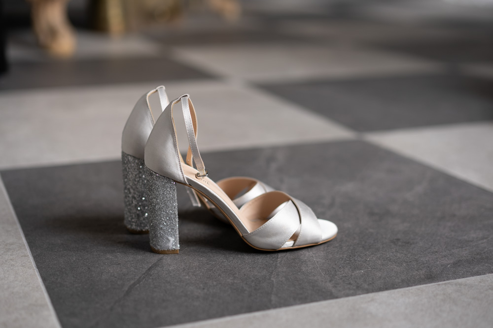 Brides shoes for her Ireland Castle wedding