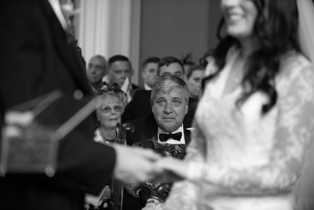 The Father of the Bride at the Luttrellstown Caste wedding ceremony