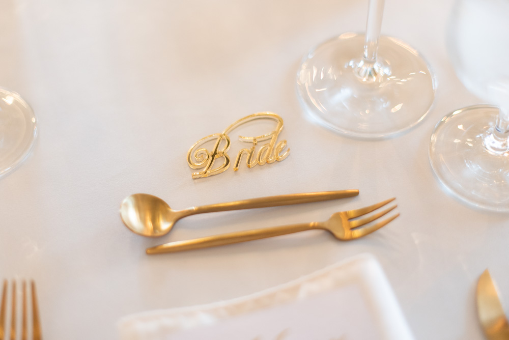 The table place name for the Bride