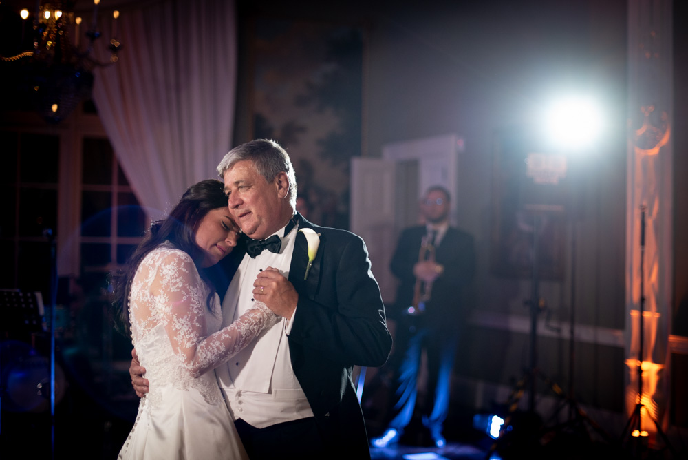 Bride and Father of the Bride dancing together